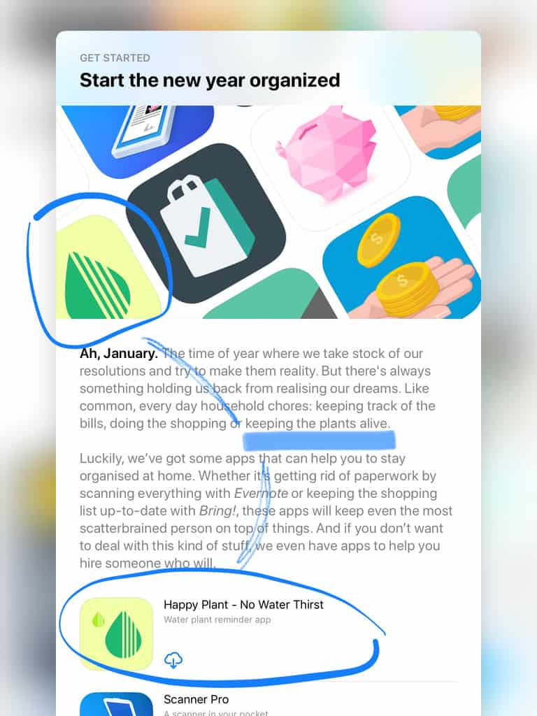happy plant featured in app store